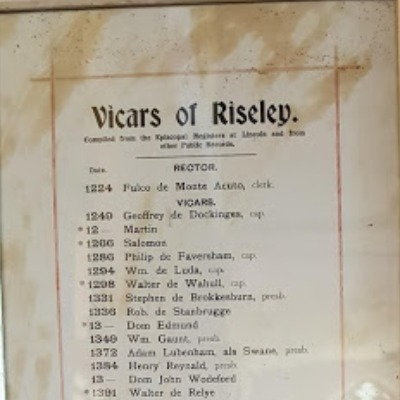 ASR: Vicars of Riseley